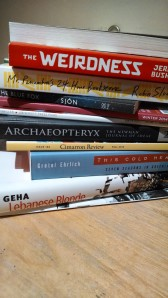 As a testament to how overwhelming AWP can be, I forgot to take pictures all 3 days. This is my book fair haul.