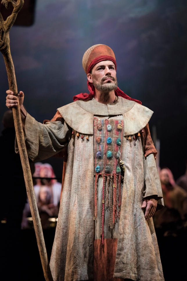 Andreas Bauer (Zaccaria) in the alternate cast of Seattle Opera's Nabucco. © Elise Bakketun