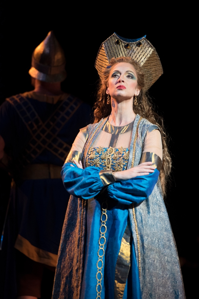 Raffaella Angeletti (Abigaille) in Seattle Opera's Nabucco. © Elise Bakketun