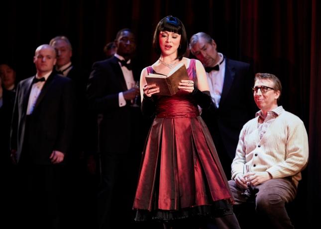 Corinne Winters (Violetta) and Joshua Dennis (Alfredo). Philip Newton photo c/o Seattle Opera 2017